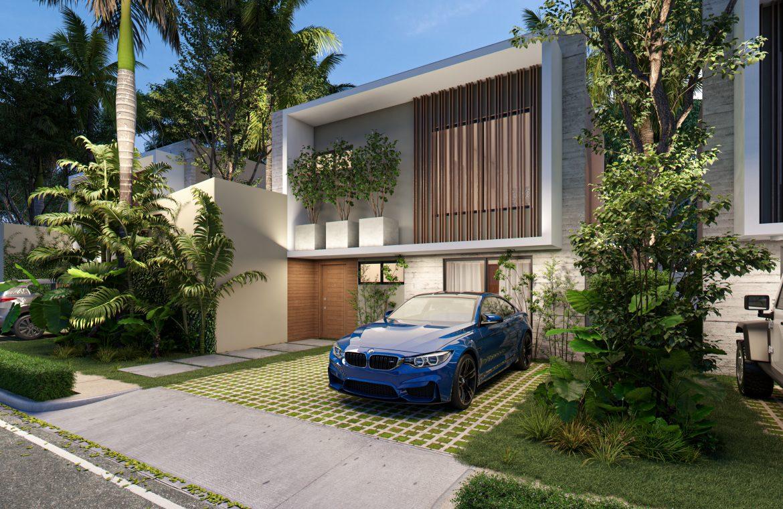 Villa de 2 niveles y 3 habitaciones Tipo A en Atabey Residence en Punta Cana