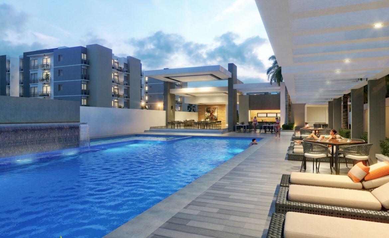 Apartamento de 1 habitación en el Parque Residencial Jardines III en Bávaro Punta Cana