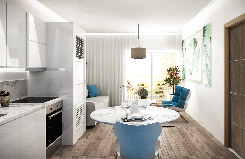 Apartamento de 2 habitaciones en el Parque Residencial Jardines III en Bávaro Punta Cana