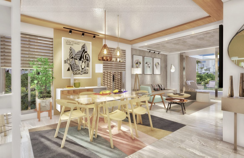 Apartamento de 2 habitaciones en Proyecto tipo Resort en Vista Cana