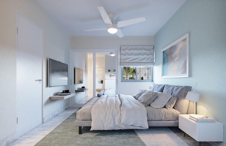 Apartamento de 3 habitaciones en el Parque Residencial Jardines III en Bávaro Punta Cana