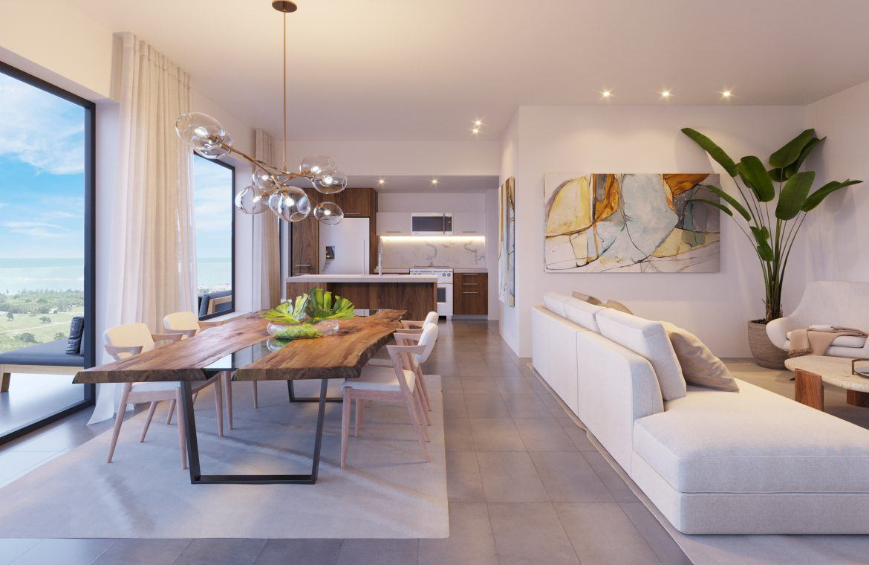 Apartamentos de 2 habitaciones con family room y habitación de servicio en Cap Cana