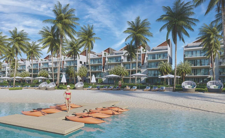 Apartamentos de 3 habitaciones con playa artificial en Downtown Punta Cana